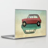 ying yang Laptop & iPad Skins featuring mini ying and yang by Vin Zzep