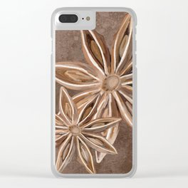 Star Anise Spice Clear iPhone Case