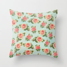 LONGING FOR SPRING- FLORAL PATTERN Throw Pillow