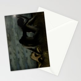 Three women in a field Stationery Cards