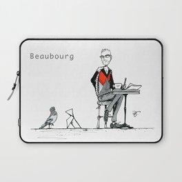 A Few Parisians: Beaubourg by David Cessac Laptop Sleeve