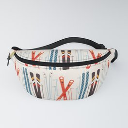 Retro Ski Illustration Fanny Pack