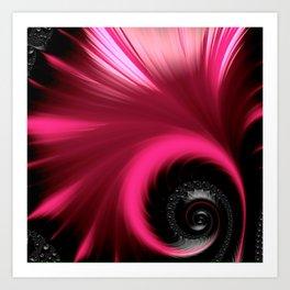 Vibrant Pink Fan Art Print