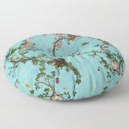 Monkey World Aqua Floor Pillow