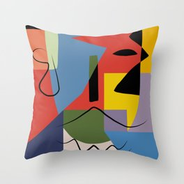 Abstract composition dali Throw Pillow