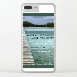 Path to Happiness Clear iPhone Case