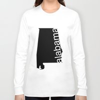 alabama Long Sleeve T-shirts featuring Alabama by Isabel Moreno-Garcia