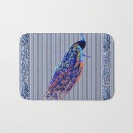 Splendor Peacock Fantasy Victorian Accents Bath Mat
