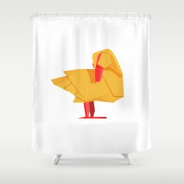 Origami Duck Shower Curtain