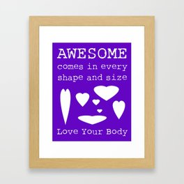 Love Your Body Print 1 (Hearts) Framed Art Print