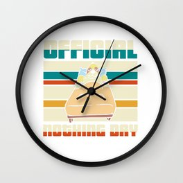 Official nothing day - sloth Wall Clock