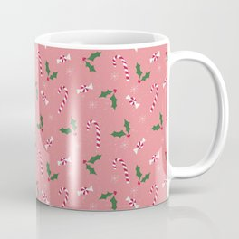 candy canes and holly Coffee Mug