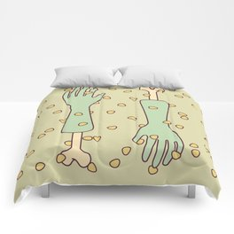 nip and tuck Comforters