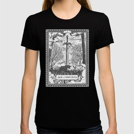 Legend of Zelda Master Sword Vintage Tarot Scene T-shirt