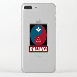 Samurai Balance Clear iPhone Case