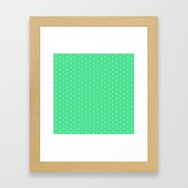 Windmill Turquoise and Mint Green Pinwheel Country Western Inspired Design Pattern Framed Art Print
