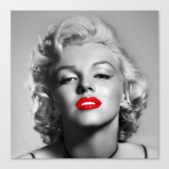 A female mouth - Marylin M. Canvas Print