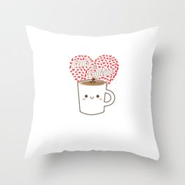 Cats And Coffee Lovers Throw Pillow