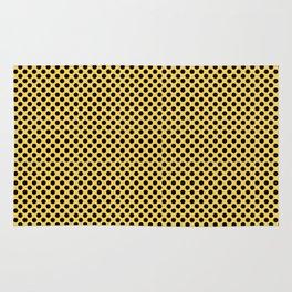 Primrose Yellow and Black Polka Dots Rug