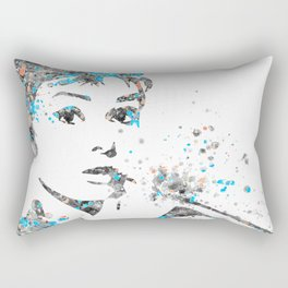 Audrey Hepburn Watercolor Pop Art  Rectangular Pillow