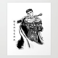 berserk Art Prints featuring GATSU BERSERK by deianaluca
