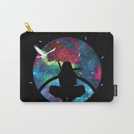 Grungy Ninja Silhouette Carry-All Pouch