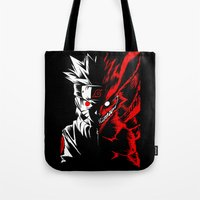 naruto Tote Bags featuring Naruto by offbeatzombie