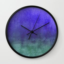 cobalt and teal watercolor Wall Clock