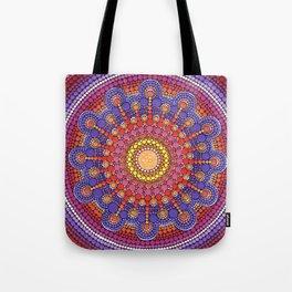 Jewel Drop Mandala Tote Bag