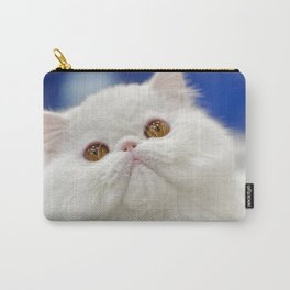 Young white cat Carry-All Pouch