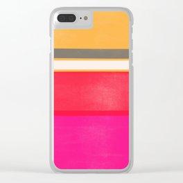 stripe study 1 Clear iPhone Case