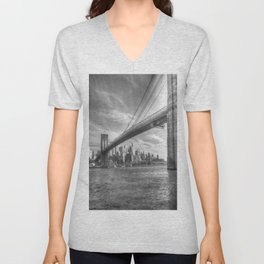 Brooklyn Bridge Unisex V-Neck