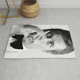 Roger Moore with Martini Retro Vintage Art Rug