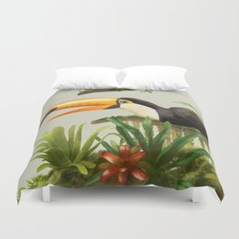 Toco Toucan vintage illustration. Duvet Cover
