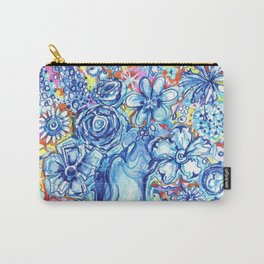Blue flower vase Carry-All Pouch