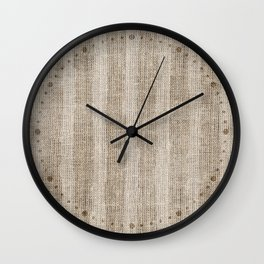 Striped burlap (Hessian series 3 of 3) Wall Clock