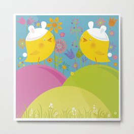 Happy Easter Time! Metal Print