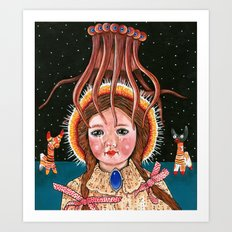 Squid Girl Art Print