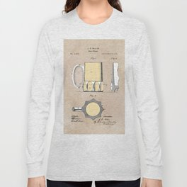 patent Beer Mugs Long Sleeve T-shirt