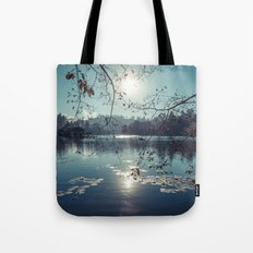 India - Blue lake Tote Bag