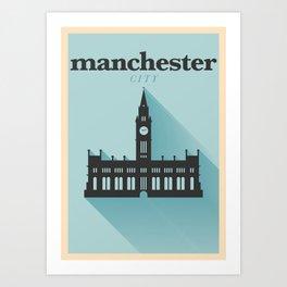 Minimal Manchester Poster Art Print