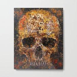Textured Skull Metal Print