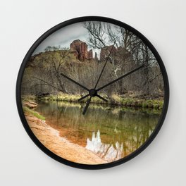 Cathedral Rock from Red Rock Crossing Wall Clock