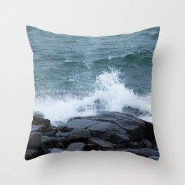Splash on the Shore Throw Pillow