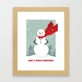 Super Christmas Framed Art Print