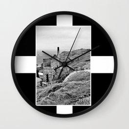 Cornish Tin Mine And Flag Wall Clock