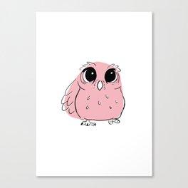 Pink Owl Canvas Print