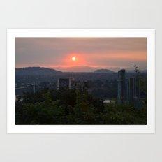 City Waking Art Print
