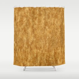 Deep Gold Glitter Shower Curtain