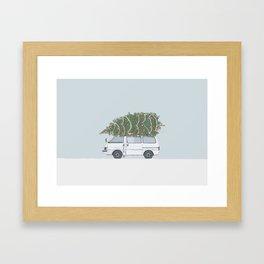 Driving Home For Christmas Framed Art Print